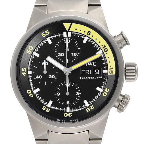 Photo of IWC Aquatimer GST Titanium Chronograph Day Date Mens Watch IW371903
