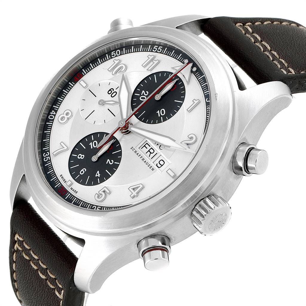 IWC Spitfire Double Chronograph Rattrapante Automatic Watch IW371806 SwissWatchExpo