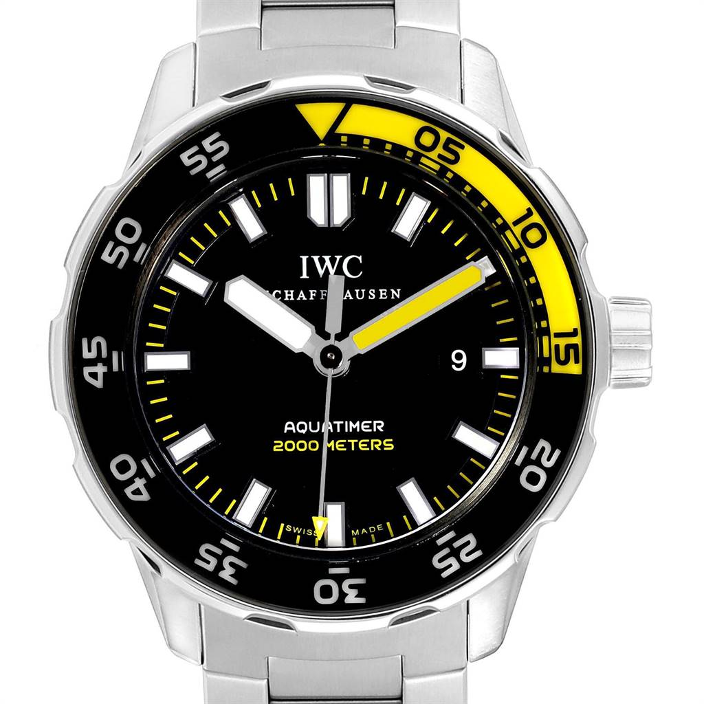 Photo of IWC Aquatimer 2000 Automatic Steel Mens Watch IW356801 Card