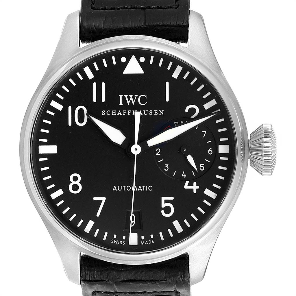 IWC Big Pilots 46mm Black Dial Automatic Steel Mens Watch IW500401 SwissWatchExpo