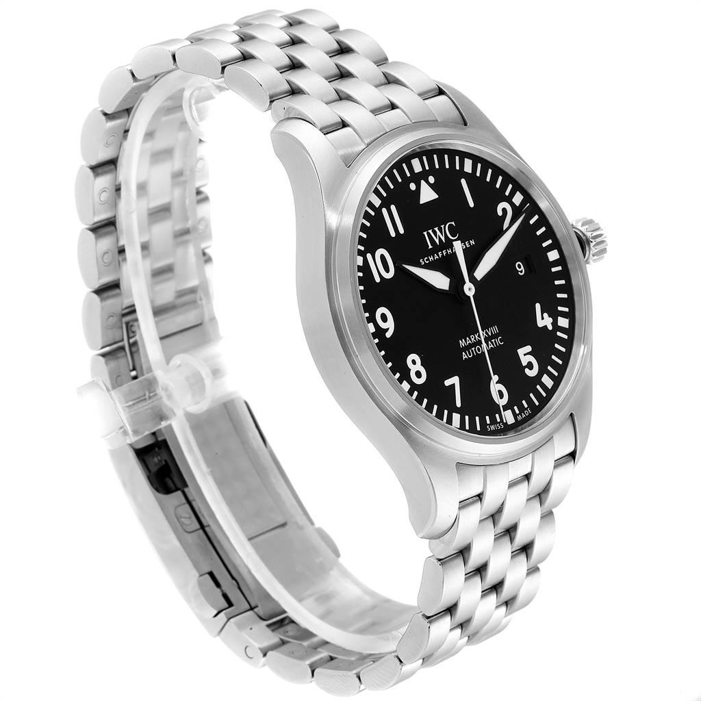 IWC Pilot Mark XVIII Black Dial Steel Mens Watch IW327015 Box Papers SwissWatchExpo