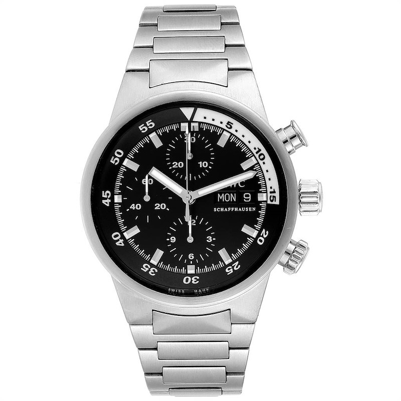 IWC Aquatimer Automatic Chronograph Day Date Mens Watch IW371928 SwissWatchExpo