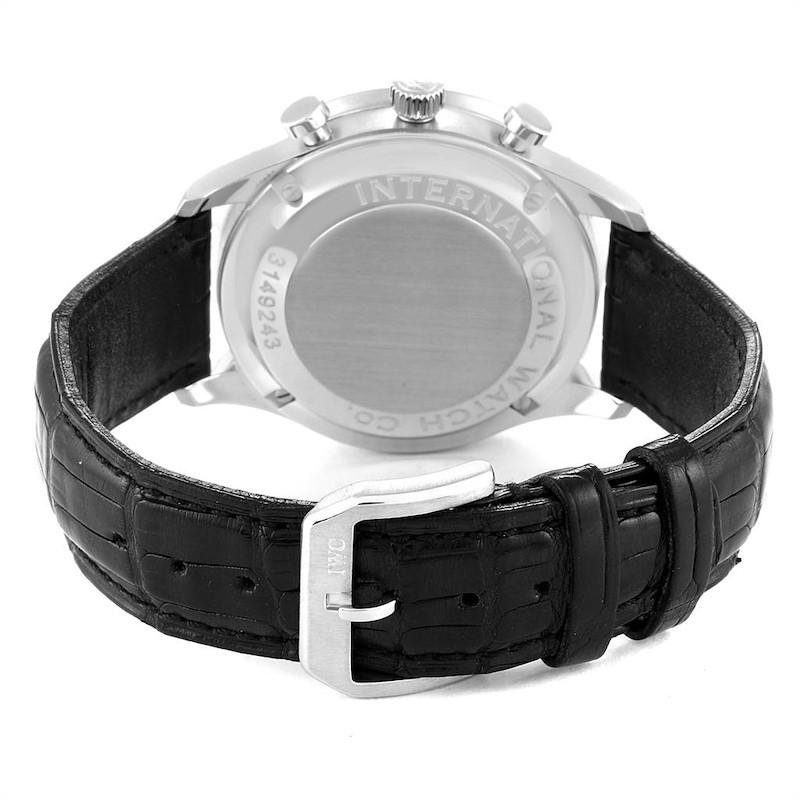 IWC Portuguese Chronograph Steel Mens Watch IW371401 Box Card SwissWatchExpo
