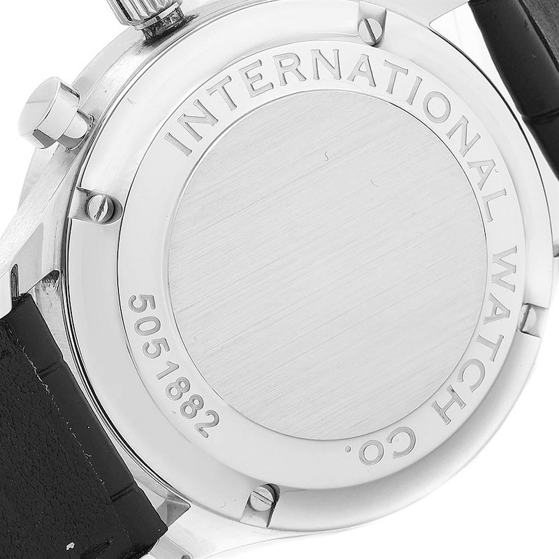 IWC Portuguese Chrono Automatic Stainless Steel Mens Watch IW371445 SwissWatchExpo