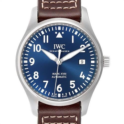 Photo of IWC Pilot Mark XVIII Petit Prince Blue Dial Mens Watch IW327004 Unworn