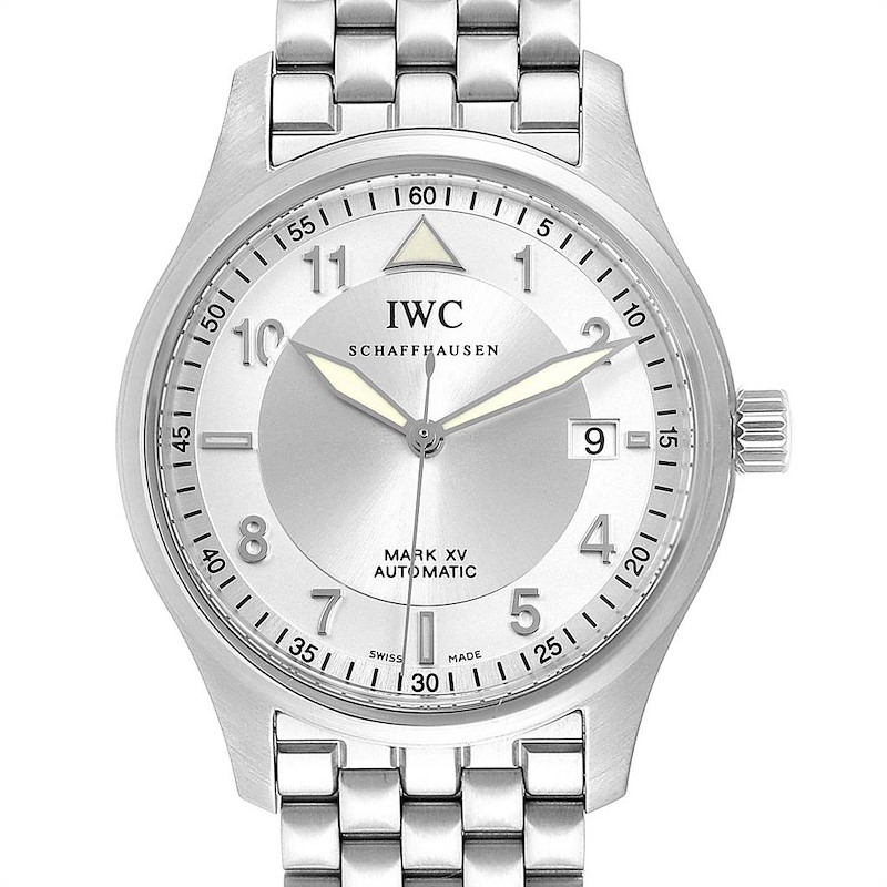 IWC Spitfire Pilot Mark XV Steel Mens Watch IW325505 SwissWatchExpo