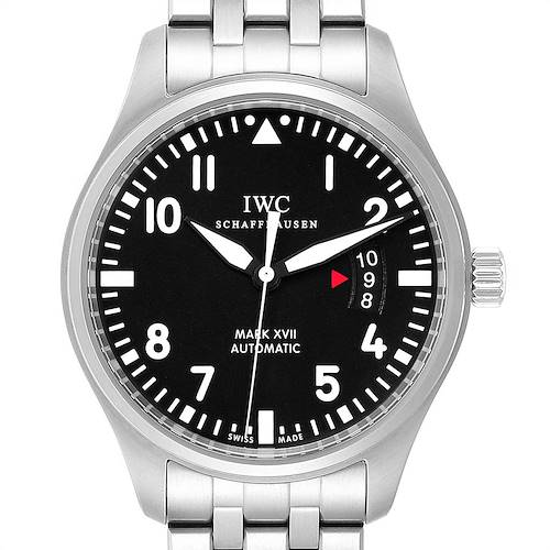 Photo of IWC Pilots Mark XVII Automatic Steel Mens Watch IW326504 Box Card