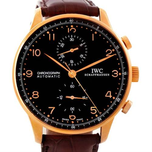 Photo of IWC Portuguese Chronograph 18K Rose Gold Watch IW371415