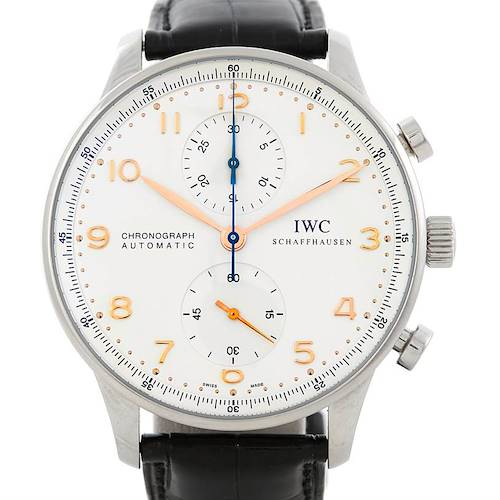 Photo of IWC Portuguese Chrono Automatic Steel Mens Watch IW371445