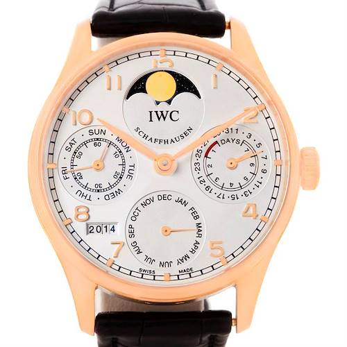 Photo of IWC Portuguese Perpetual Calendar Rose Gold Watch IW502213 Box Papers