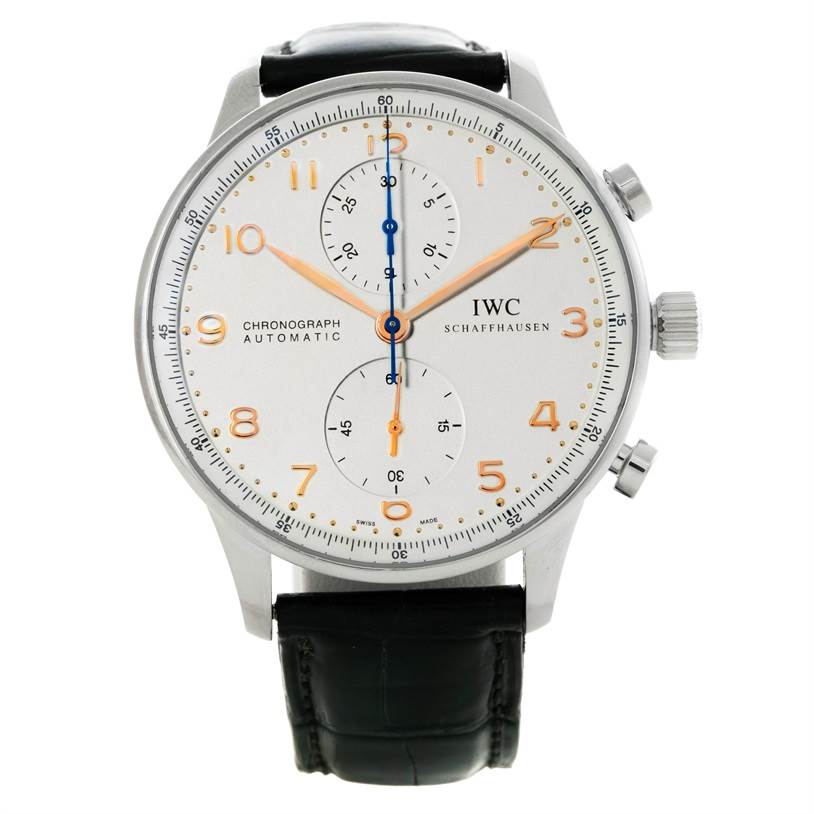 Automatic Watch Stainless Portuguese Steel Mens Chrono Iwc Iw371445 JK1cTlF