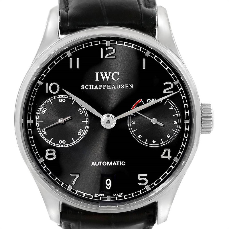IWC Portuguese Chrono 7 Day Power Reserve Mens Watch IW500109 SwissWatchExpo