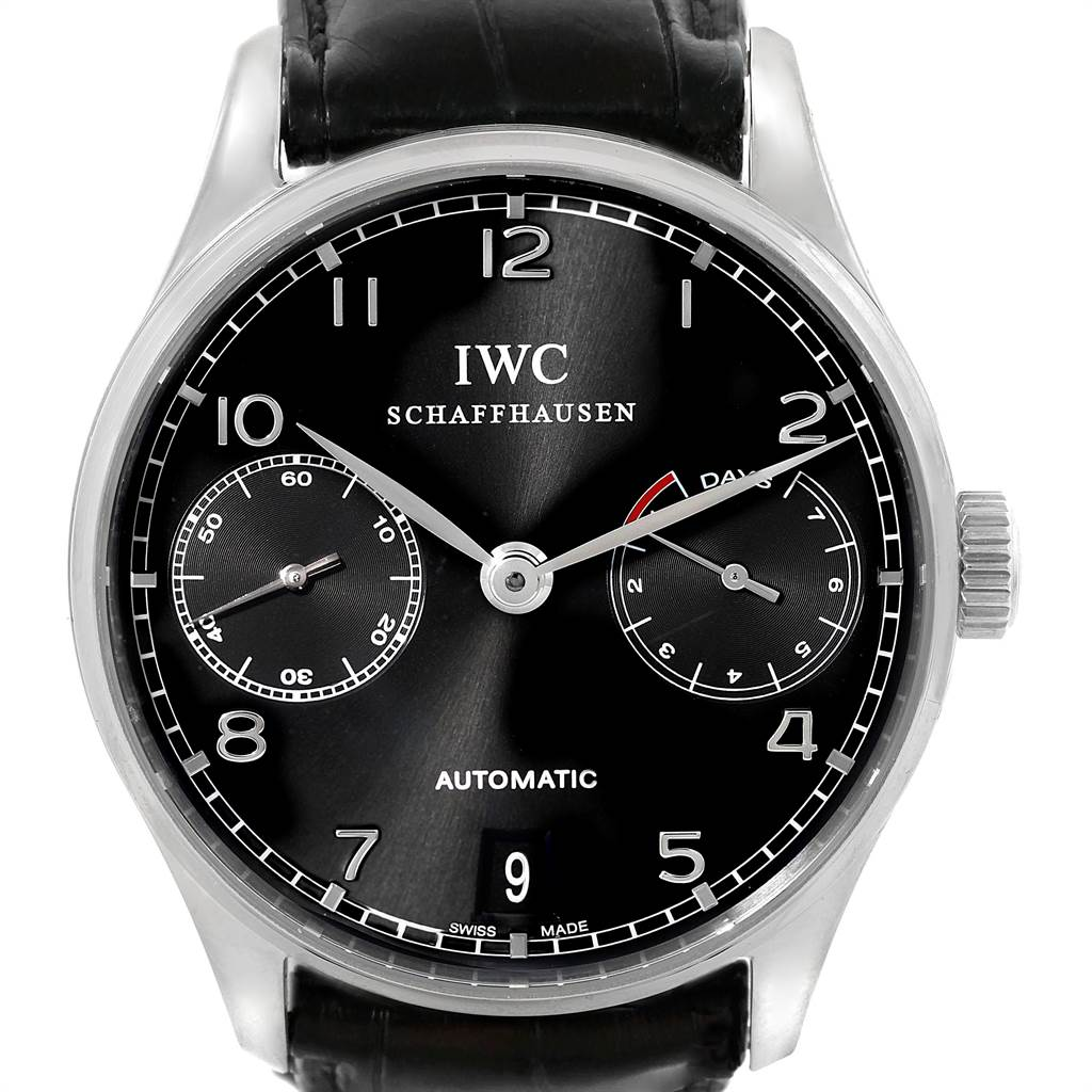 9468 IWC Portuguese Chrono 7 Day Power Reserve Mens Watch IW500109 SwissWatchExpo