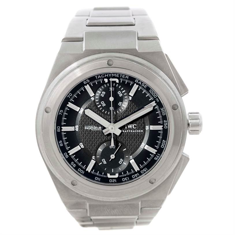 9526 IWC Ingenieur Automatic Chronograph Black Dial Mens Watch IW372501 SwissWatchExpo