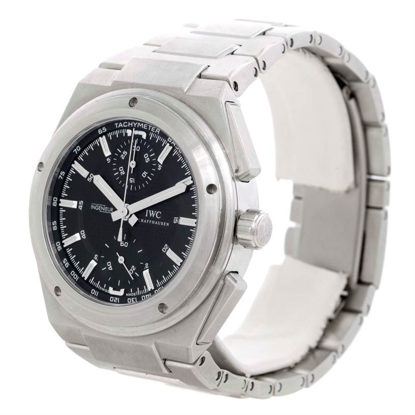 hot sale online 4a928 422bb IWC Ingenieur Automatic Chronograph Black Dial Mens Watch IW372501