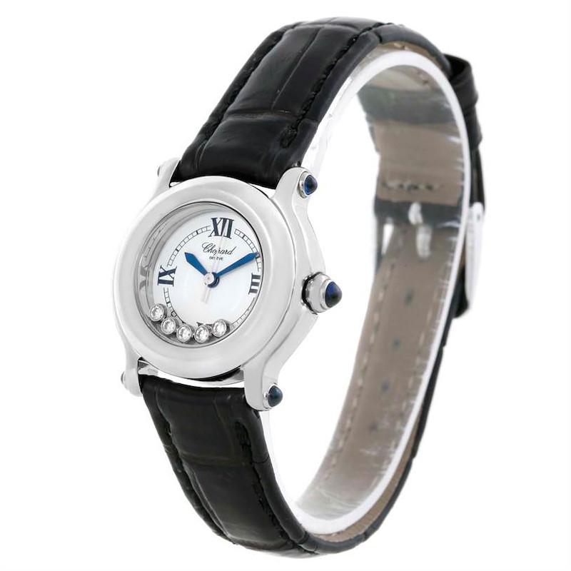 Chopard Happy Sport White Dial Floating Diamond Watch 27/8245-23 SwissWatchExpo