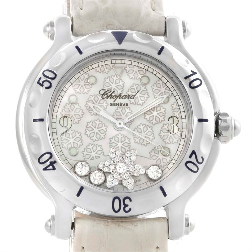 Photo of Chopard Happy Sport Snowflake Floating Diamond Watch 278949-3001