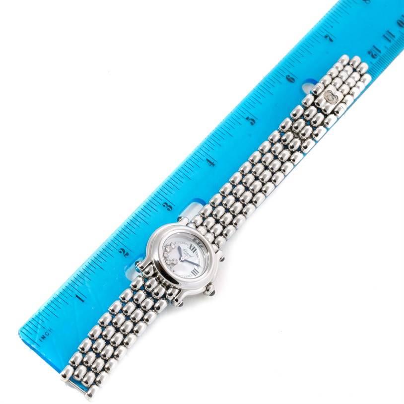 11499 Chopard Happy Sport White Dial 5 Floating Diamonds Watch 27/8250-23 SwissWatchExpo