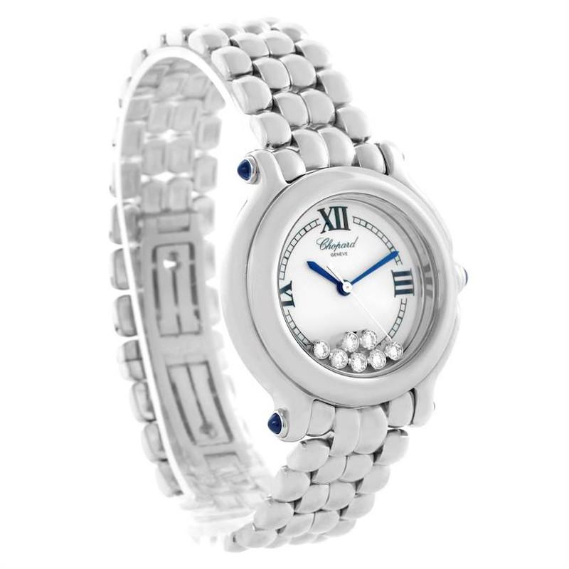 Chopard Happy Sport White Dial Floating Diamond Watch 278236-3005 SwissWatchExpo