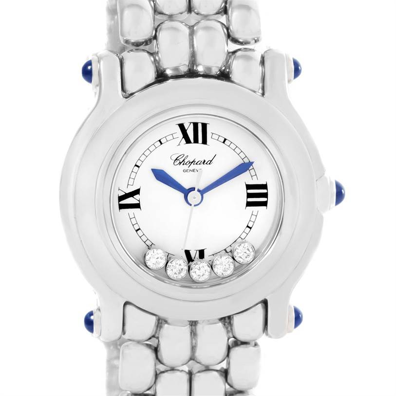 Photo of Chopard Happy Sport White Dial 5 Floating Diamonds Watch 27/8250-23
