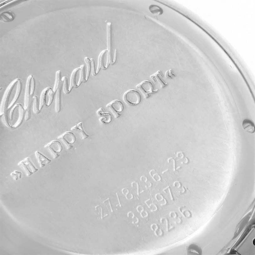 12435 Chopard Happy Sport Floating Diamond Stainless Steel Watch 278236-3005 SwissWatchExpo