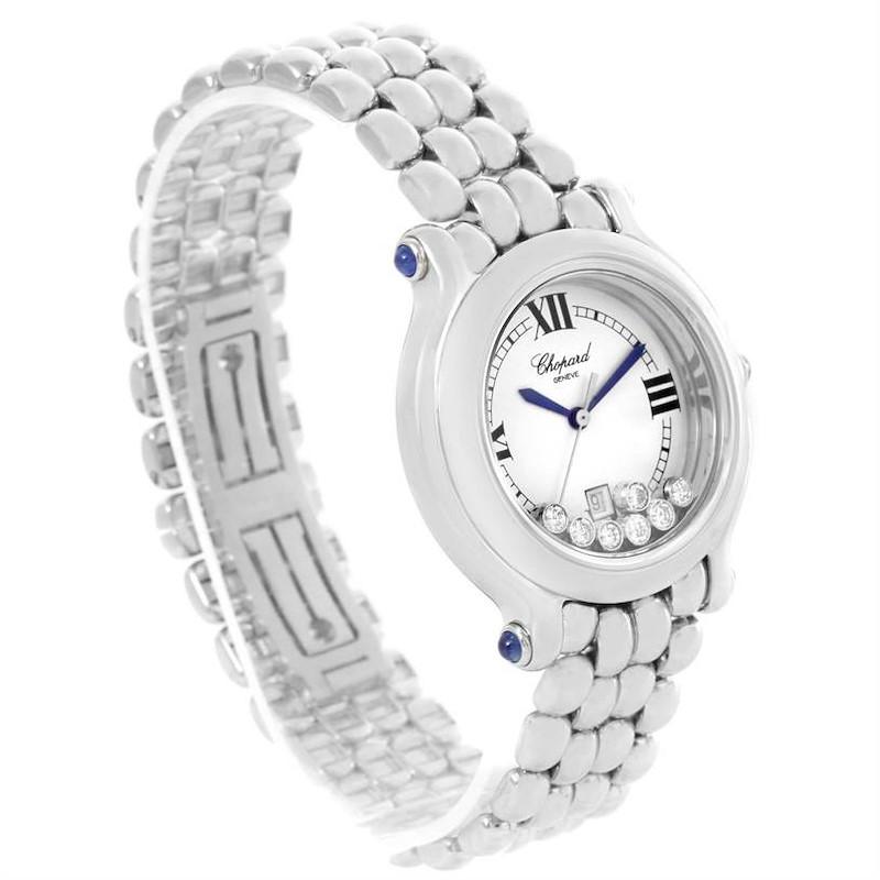 Chopard Happy Sport Floating Diamond Stainless Steel Watch 278236-3005 SwissWatchExpo