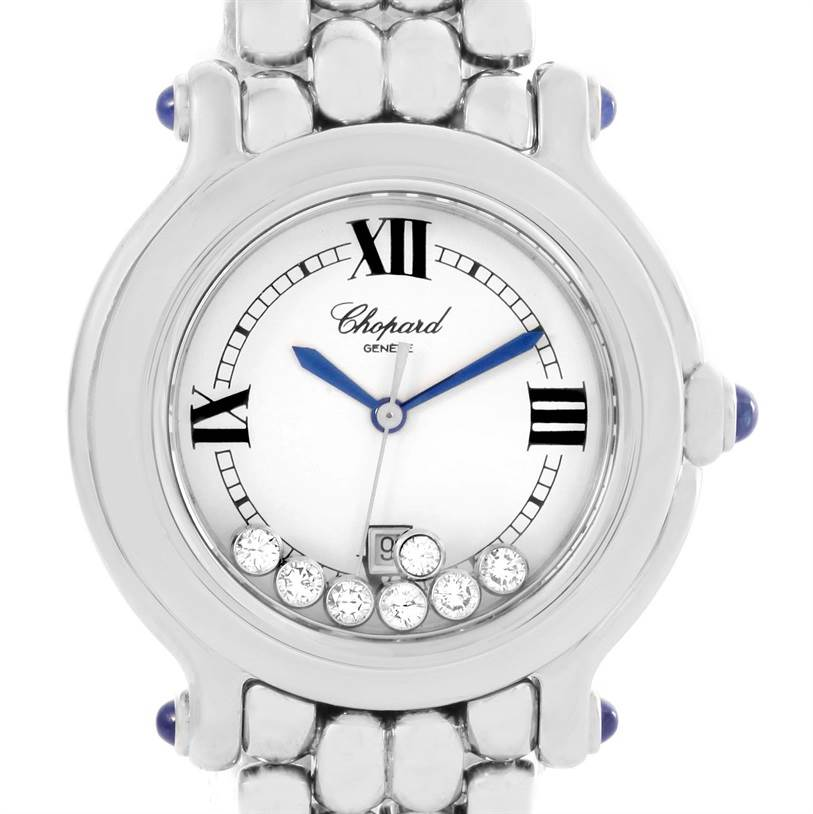 Photo of Chopard Happy Sport Floating Diamond Stainless Steel Watch 278236-3005