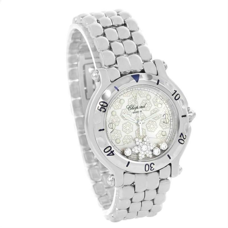 Chopard Happy Sport Snowflake Floating Diamonds Watch 27/8949 SwissWatchExpo