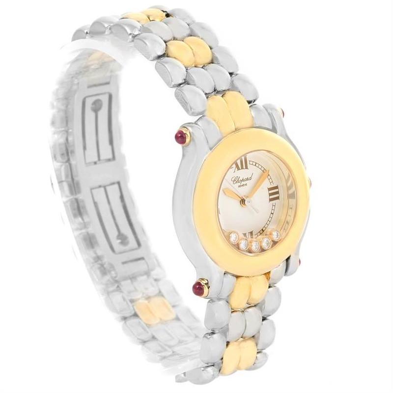 Chopard Happy Sport Steel Yellow Gold Floating Diamonds Watch 27/8278 SwissWatchExpo