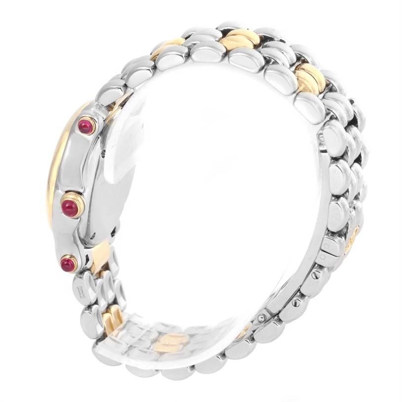 12575 Chopard Happy Sport Steel Yellow Gold Floating Diamonds Watch 27/8278 SwissWatchExpo