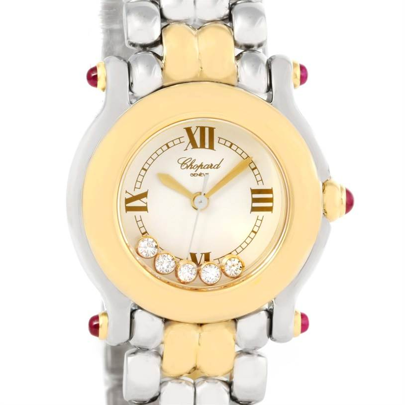 Photo of Chopard Happy Sport Steel Yellow Gold Floating Diamonds Watch 27/8278