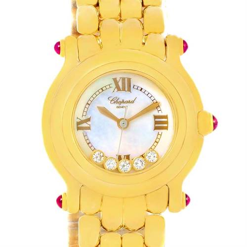 Photo of Chopard Happy Sport Yellow Gold Floating Diamonds Watch 27/6150-21