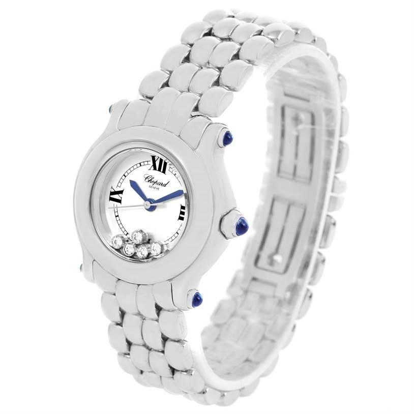 12579 Chopard Happy Sport 5 Floating Diamonds Steel Ladies Watch 27-8250 SwissWatchExpo