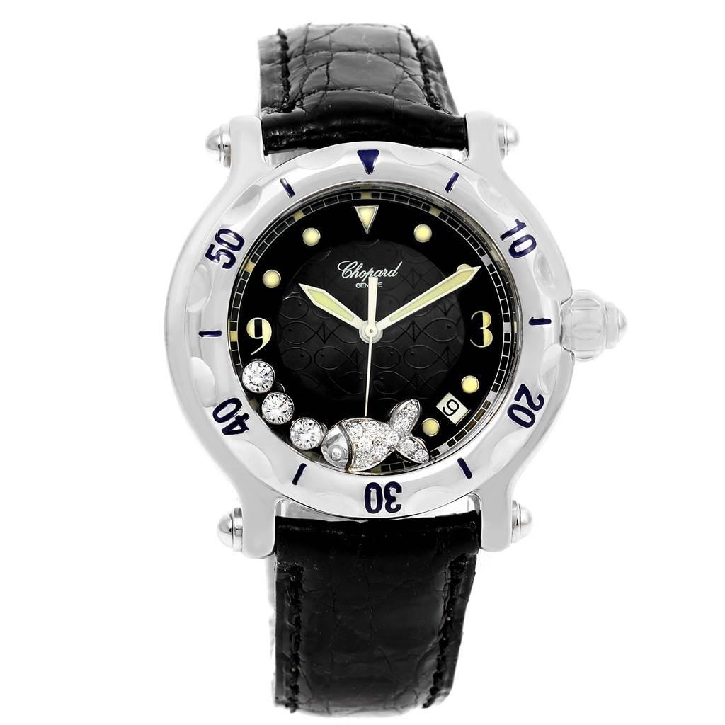 10345A Chopard Happy Beach Floating Diamond Fish Ladies Watch 288347 SwissWatchExpo