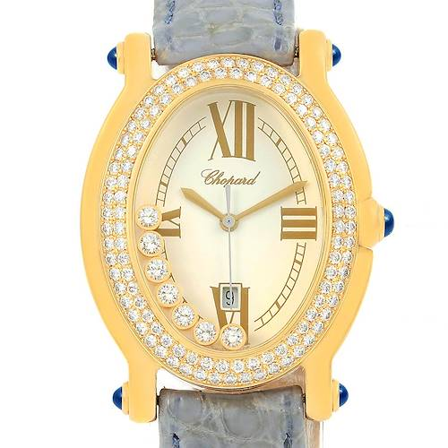 Photo of Chopard Happy Diamond Yellow Gold Floating Diamonds Watch 27/7012-23