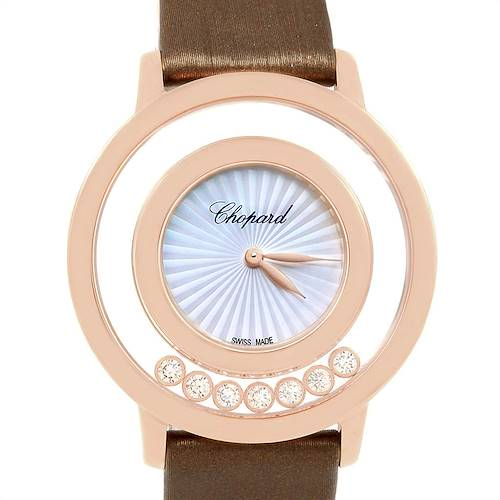 Photo of Chopard Happy Diamond Rose Gold Floating Diamonds Watch 4596