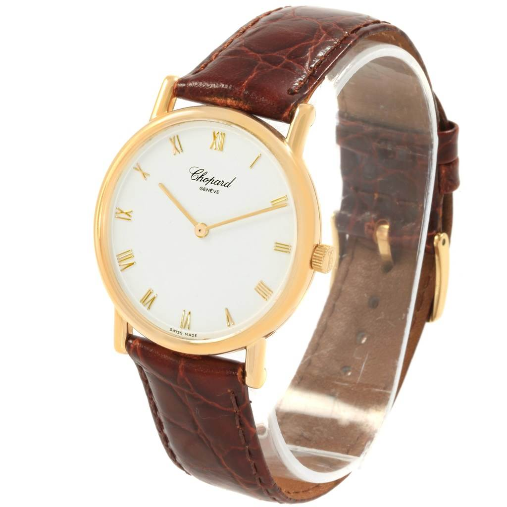 Chopard Classique 18K Yellow Gold Mechanical Mens Watch 16/3154 SwissWatchExpo