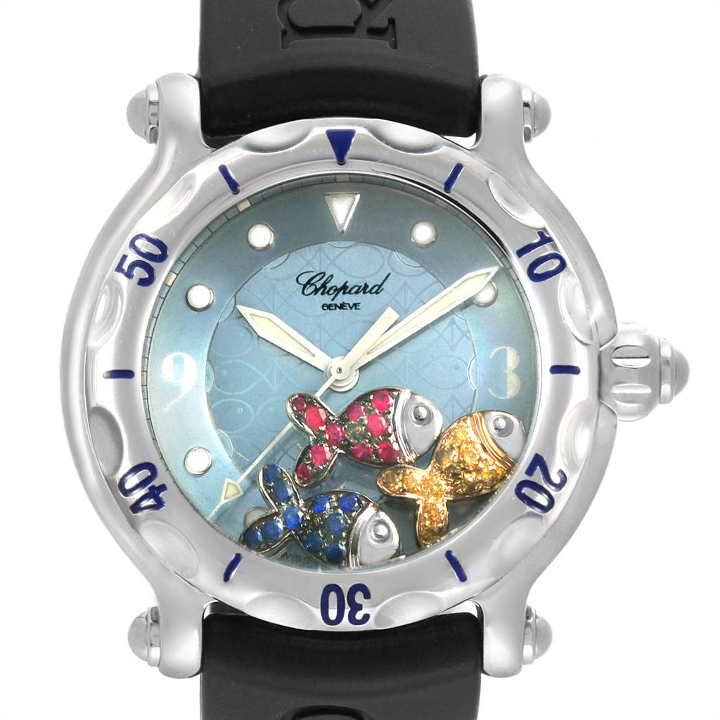 Photo of Chopard Happy Beach Floating Rubi Sapphire Fish Ladies Watch 288347