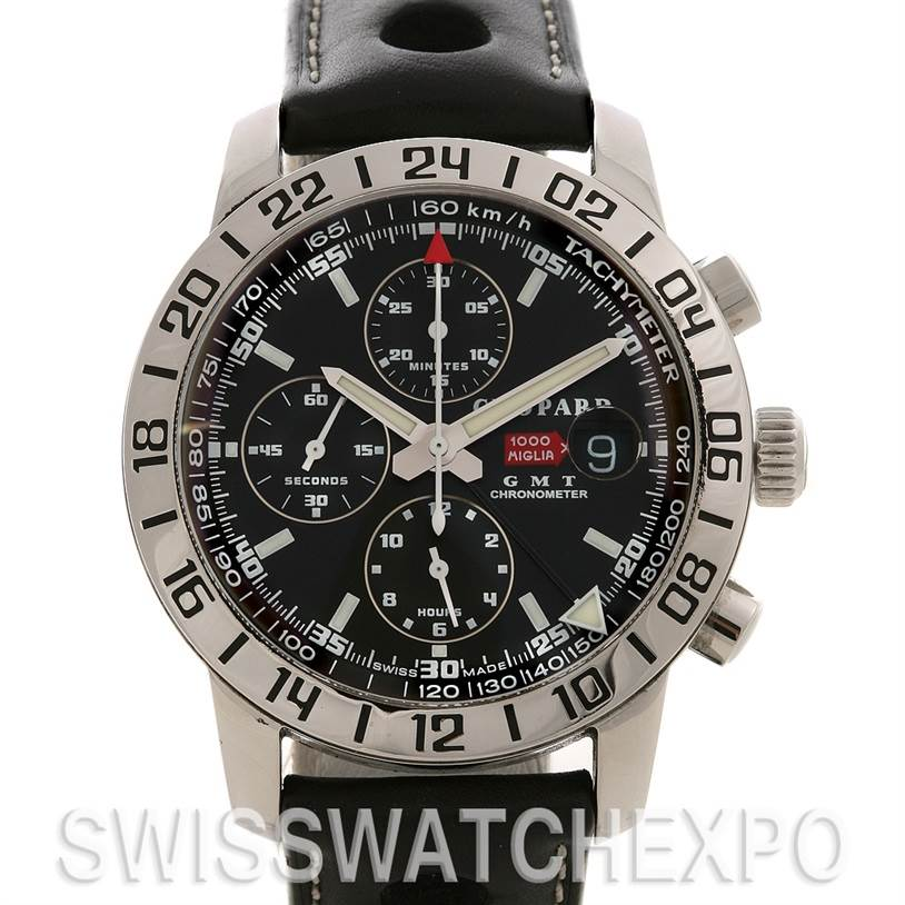2567 Chopard Mille Miglia Gmt Steel Watch 168992-3001 SwissWatchExpo