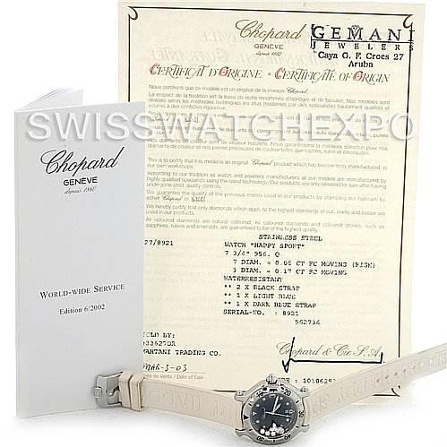 3070 Chopard Happy Sport Rubber Strap 278923-3001 Watch SwissWatchExpo