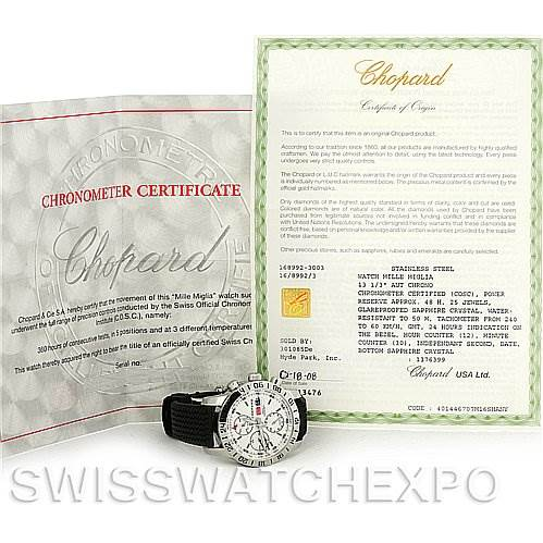 4176 Chopard Mille Miglia GMT Mens Watch 168992-3003 SwissWatchExpo