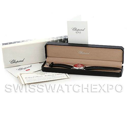 5945 Chopard Mille Miglia Steel Black Rubber Mens Watch 16-8331 SwissWatchExpo