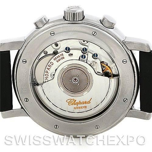 Chopard Mille Miglia Steel Black Rubber Mens Watch 16-8331 SwissWatchExpo