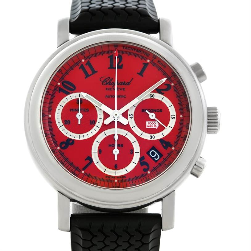 Chopard Mille Miglia Steel Black Rubber Mens Watch 16-8331