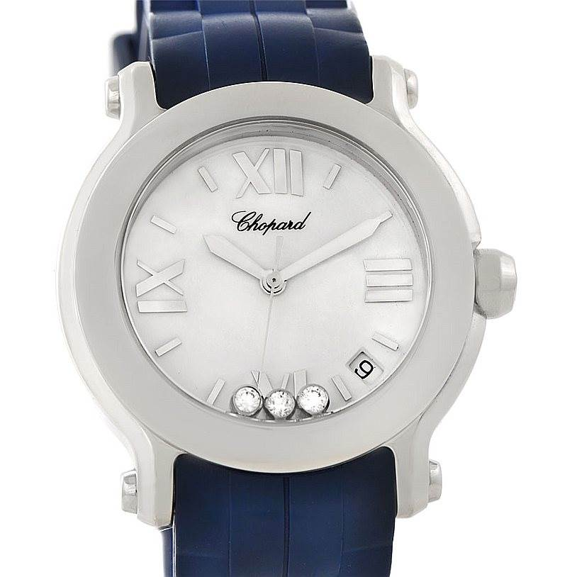 Photo of Chopard Happy Sport Floating Diamond Rubber Strap Watch 278475