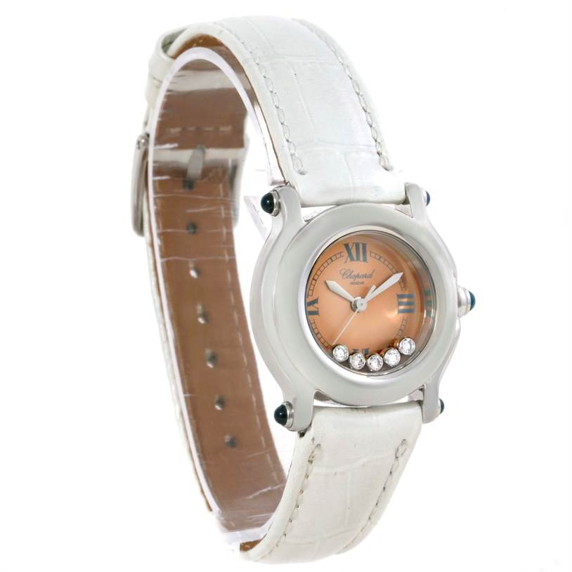 9796 Chopard Happy Sport Diamond Bronze Dial Ladies Watch 27/8250-23 SwissWatchExpo