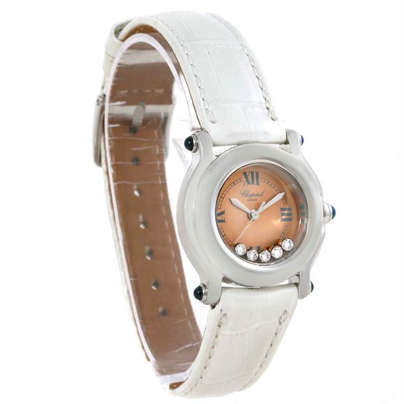 Chopard Happy Sport Diamond Bronze Dial Ladies Watch 27/8250-23 SwissWatchExpo
