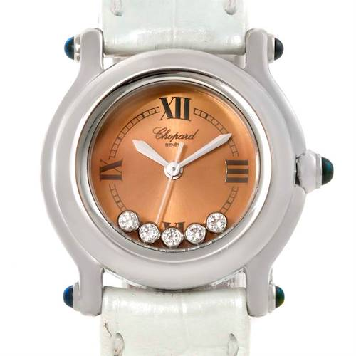 Photo of Chopard Happy Sport Diamond Bronze Dial Ladies Watch 27/8250-23