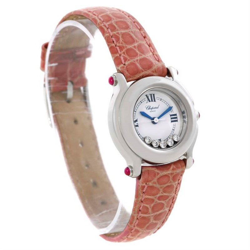 Chopard Happy Sport Diamond White Dial Ladies Watch 27/8245-21 SwissWatchExpo