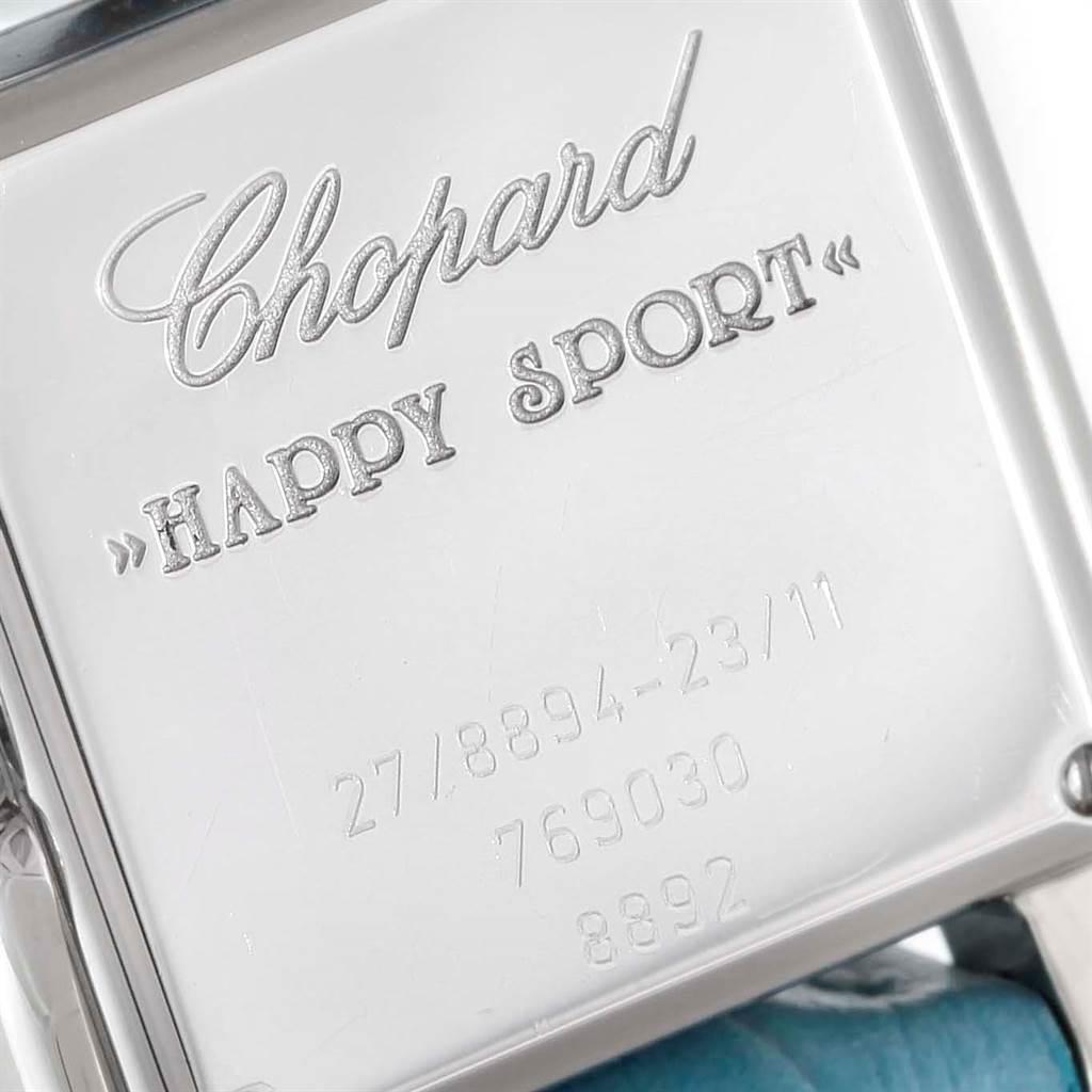Chopard Happy Sport Blue Mother Of Pearl Diamond Ladies Watch 27/8894-23/11 SwissWatchExpo